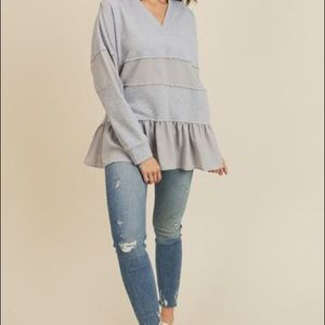Mixed media sweatshirt